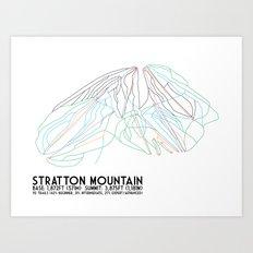 Stratton, VT - Minimalist Trail Art Art Print