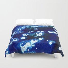 blue water splash Duvet Cover
