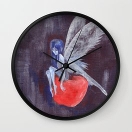 Fairy Loves Apple Wall Clock