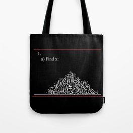 Math Problem Tote Bag