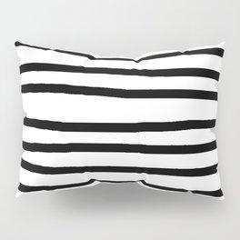 Simply Drawn Stripes in Midnight Black Pillow Sham