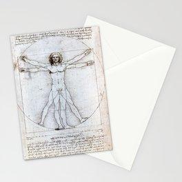 Leonardo da Vinci Vitruvian Man Stationery Cards