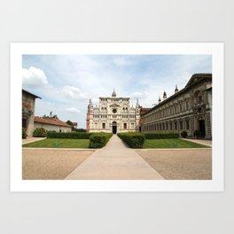 Certosa di Pavia Art Print