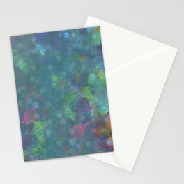 Blue and green abstract painting Stationery Cards