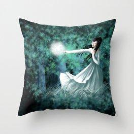 Watching from Afar Throw Pillow