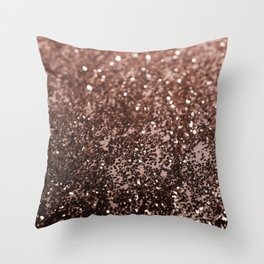 Rose Gold Glitter #1 #sparkling #decor #art #society6 Throw Pillow