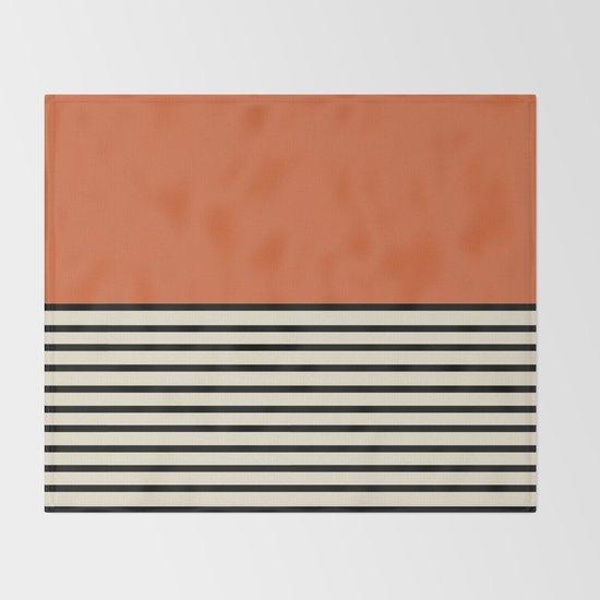 Sunrise / Sunset I - Orange & Black by midcenturymodern