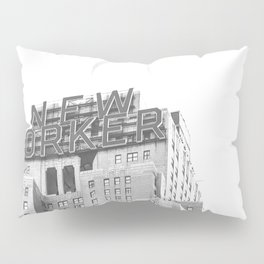New Yorker Sign - NYC Black and White Pillow Sham