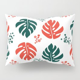 Red and green leaves Pillow Sham