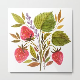 Early Summer Strawberries Are The Sweetest Metal Print