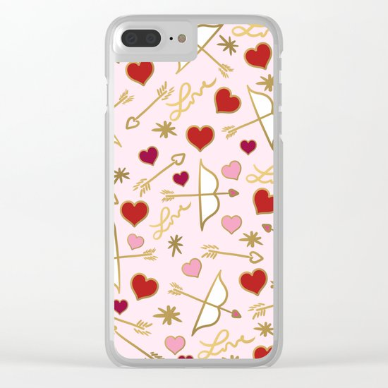 Cupid Love (soft pink) Clear iPhone Case