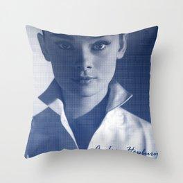 Audrey in White Throw Pillow