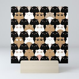 Pattern of Cute Bears – Children's Room Illustration for Boys and Girls Mini Art Print