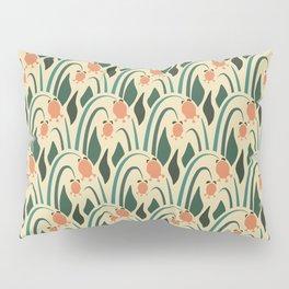 a lot of flowers for art deco green Pillow Sham