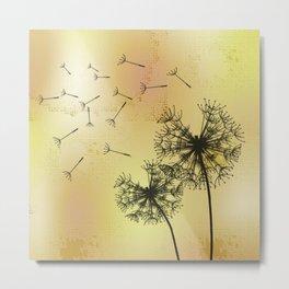 Pusteblumen - Dandelions Metal Print