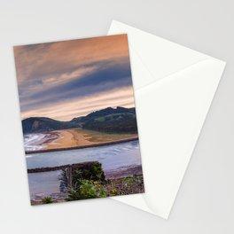 Rodiles beach in Asturias, Spain. Stationery Cards