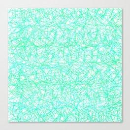 Mint Geometrics Canvas Print