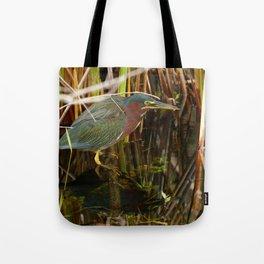 Beautiful Green Heron Tote Bag