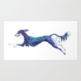 The Blue Saluki Art Print