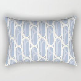 Yellow and blue waves Rectangular Pillow
