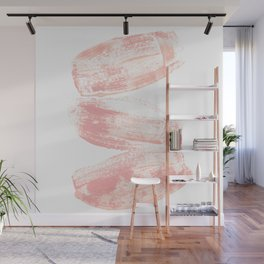 Stacked Pink Brushstrokes Wall Mural