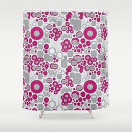 Pink lifting Shower Curtain