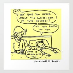Post-it-Love Note So tired that everything is funny Edition Art Print