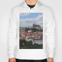 prague Hoodies featuring Prague CityScape by Andrew Schmidt