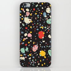 Modern Scandinavian Multi Colour Color Pebbles Black iPhone & iPod Skin