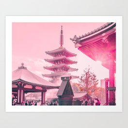 Pink Senso-Ji Kunstdrucke