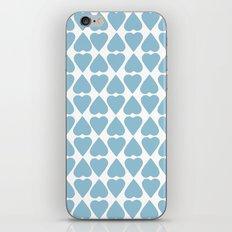 Diamond Hearts Repeat Blue iPhone & iPod Skin