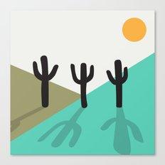 Cactus in the desert Canvas Print