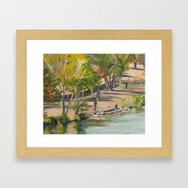 Town Lake in Austin, Texas Framed Art Print