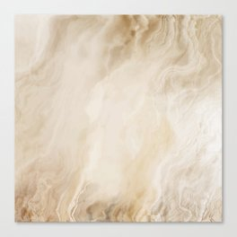 Brown Turquiose Marble texture Canvas Print