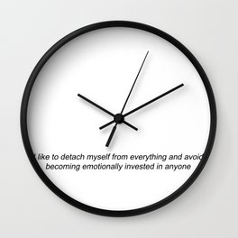 no time for drama Wall Clock
