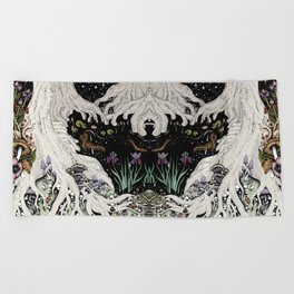 Starry Forest Beach Towel