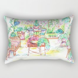 Garden party Rectangular Pillow