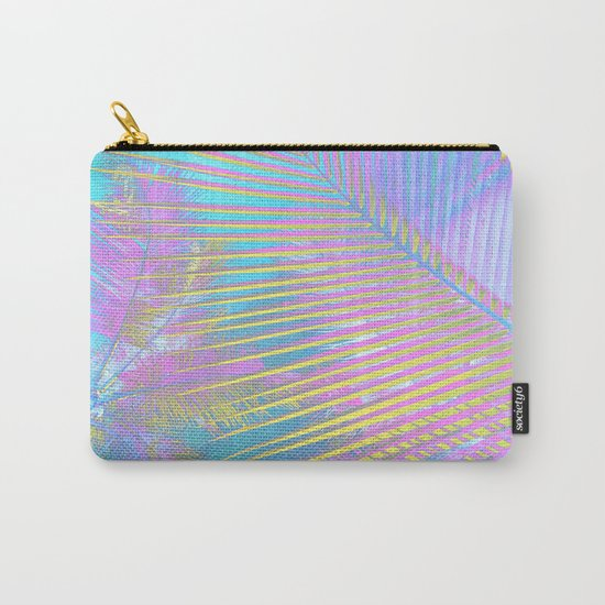 Pastel Palm tree leaves Carry-All Pouch