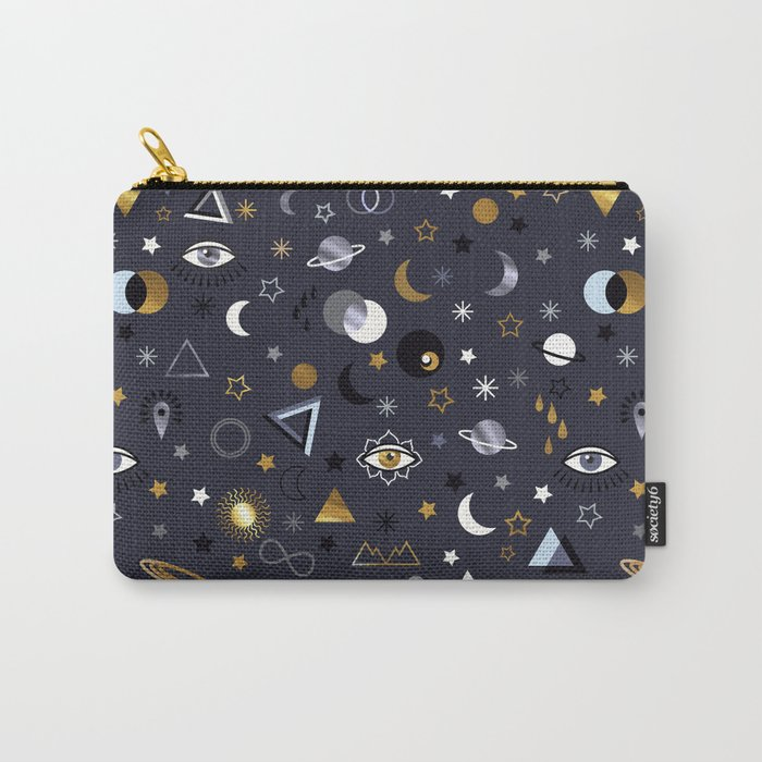 Galaxy ( gold and silver sky)  Carry-All Pouch