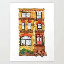 Brooklyn House 2 Art Print