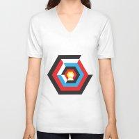 bauhaus V-neck T-shirts featuring Bauhaus by liz williams