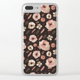 Bohemian rose floral Clear iPhone Case