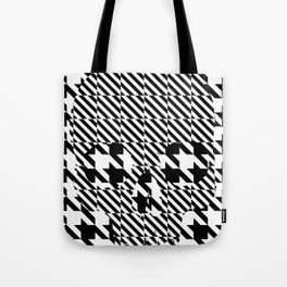 HOUNDSTOOTH SKULL #3 Tote Bag