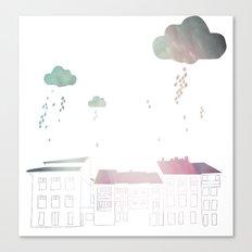 Ongi Etorri, rain Canvas Print