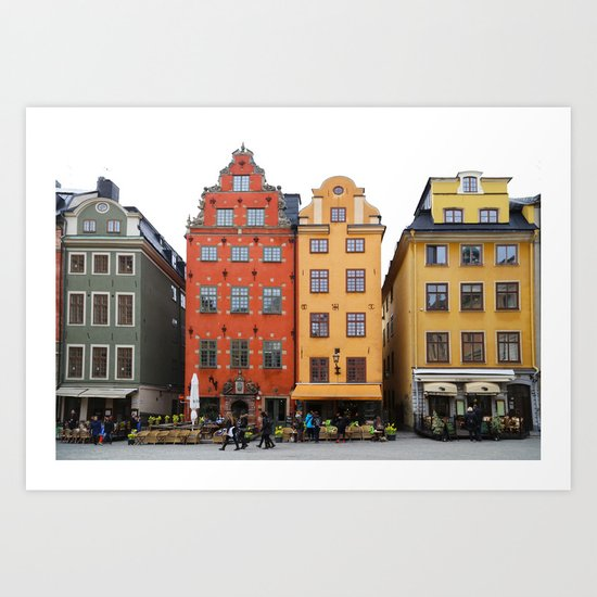 Stockholm Old Houses In Gamla Stan Art Print By Igor