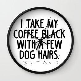 Coffee Dog Hair Wall Clock