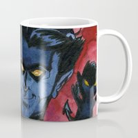 kurt rahn Mugs featuring Kurt & Bamfs by Fiendish Thingy Art