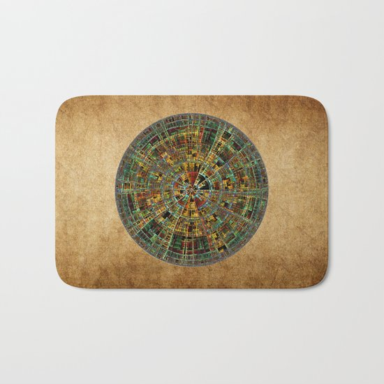 Ancient Calendar Bath Mat