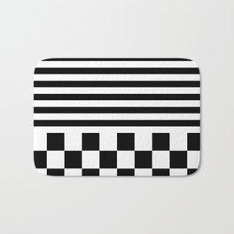 SPORTY (BLACK-WHITE) Bath Mat