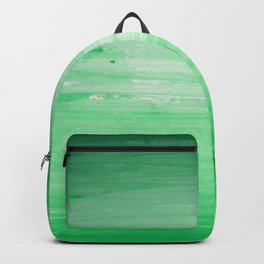 Ombre Green Stripes Backpack